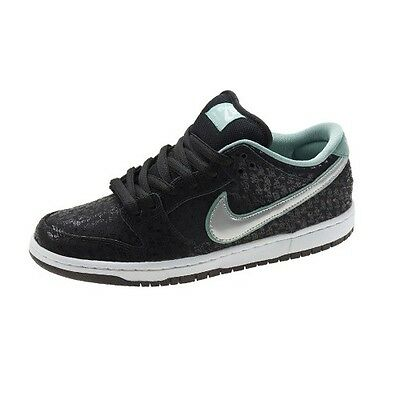 88b965a5a93e Nike DUNK LOW PRO PREMIUM SB Black Metllic Platinum 573901-002 (239) Men s