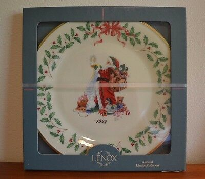 Lenox 1994 Santa Claus Annual Limited Edition Plate NEW IN BOX