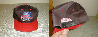 planet hollywood  Ball cap advertising new york NY red black snap back