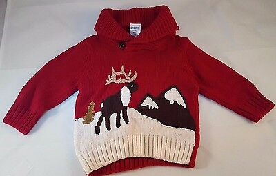 Christmas Sweater Size 3 - 6 months - LIKE NEW - 100% Cotton