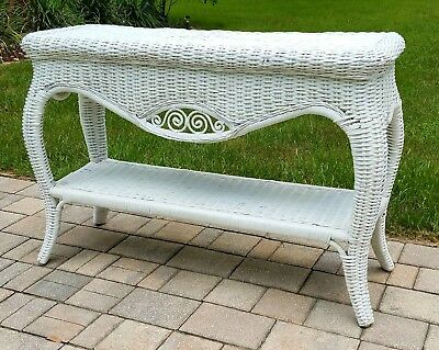 Sofa Table console hall table Stand white Wicker Library french victorian