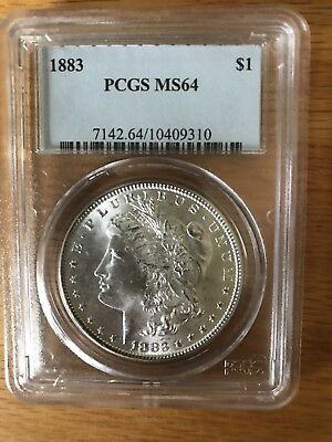 1883 Morgan Silver Dollar - PCGS MS64