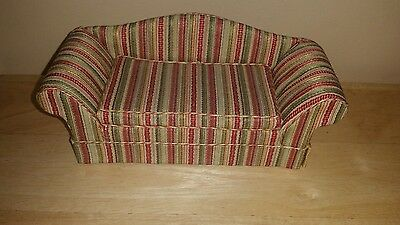 Handmade Miniature Traditional Couch Sofa for Dollhouse Living Room Room Box