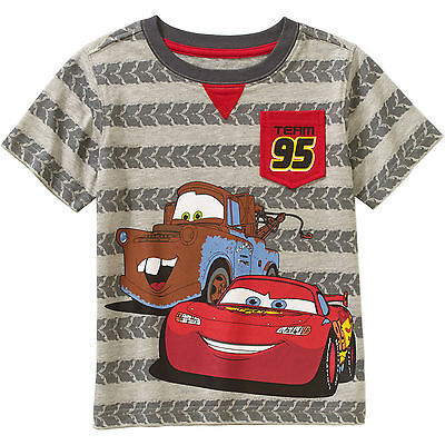 Disney Cars Toddler Boys T-Shirts Towmater Lightning McQueen 2T 3T 4T 5T NWT