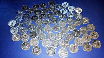Lot of 61 Vintage 1968 Shell Mr. President Game Aluminum Coins Some Duplicates