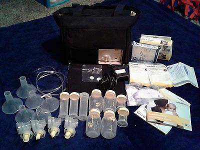 Medela Pump in Style Advanced Double Breast Pump w/ On the Go Tote, Shields/Btls