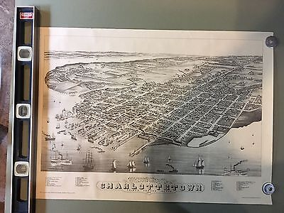 Map of Charlottetown, Price Edward Island, 1983 Reproduction of 1878 Map