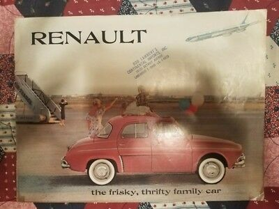 1960 Renault Caravelle Dauphine 4CV Brochure - Rare First Edition (note plane)