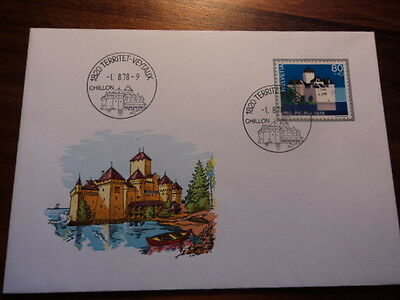 Switzerland fdc first day cover 1978 Chillon