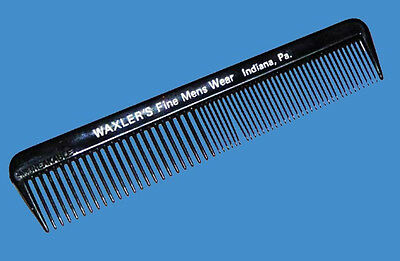 Vintage Unused Promotional Comb From Waxler's Fine Men's Wear In Indiana, Pa.