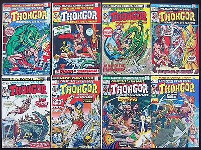 CREATURES ON THE LOOSE Lot #22-29 (Marvel 1973) THONGOR Complete  9.0 VF/NM