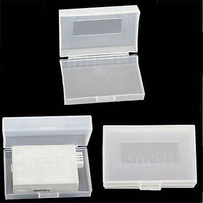 5X Plastic Case Holder Protective Storage Box For SLR Camera Battery 60*38*17mm