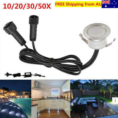 10/20/30/50X 31mm Cool White Outdoor Driveway Yard Patio LED Deck Stair Lights