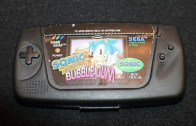 Vintage 90's Sega Game Gear Candy Container Bubble Gum Cards Sonic Hedgehog RARE