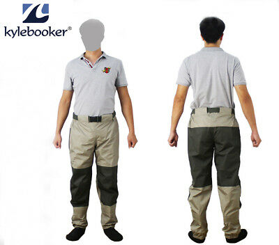 Fly Fishing Waders  Durable Weatherproof Wading Pants Tricot Pro Shell Fabric