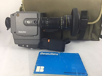 Beaulieu 6008 S  8mm Film Camera with Schneider 1.4/6-70 and Boom Mic and Bag