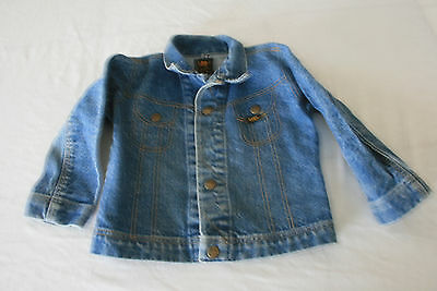 Vtg LEE UNION USA DENIM BUTTON 2 POCKET JACKET SIZE KIDS SMALL size 5/6