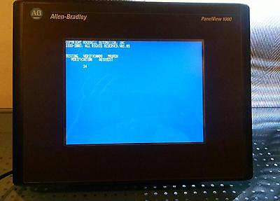 Allen Bradley Panelview 1000 2711-T10C3 /d Frn 4.41 Color Touch Screen