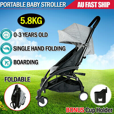 Baby Stroller Pram Compact Lightweight Carry-on Plane Travel Foldable Jogge AU
