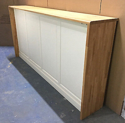 Huge Bar Cabinet Shop Counter Retail Business Fitout Timber White Wooden 245cm