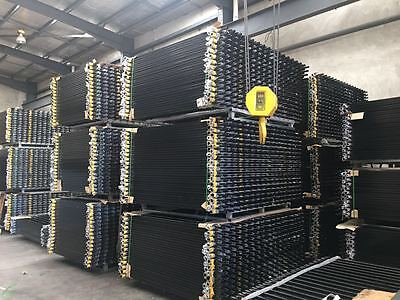 Security Fence, Tubular Fencing Steel spear top Black 2.1M x 2.4M Fence Panels