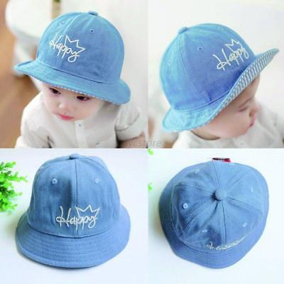 Toddler Infant Kids Sun Cap Summer Outdoor Baby Girls Boys Sun Beach Denim Hat