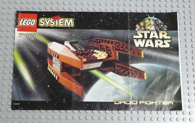 LEGO INSTRUCTIONS MANUAL BOOK ONLY 7111 Droid Fighter x1PC