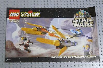 LEGO INSTRUCTIONS MANUAL BOOK ONLY 7131 Anakins Podracer x1PC
