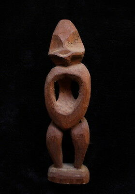 Old Stylised Wooden Figure - New Guinea 1960's