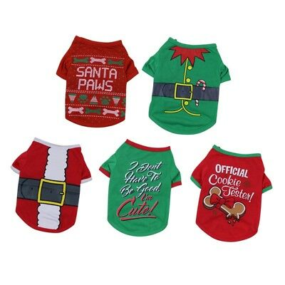 Christmas Pet Clothes Dog Santa Sweater Shirt Puppy Cat Pullover Hoodies Costume