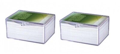 2 x Ultra Pro Hinged Clear Box pour 100 cartes storage cards boîte case 430054