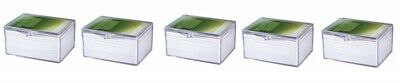 5 x Ultra Pro Hinged Clear Box pour 100 cartes storage cards boîte case 430054