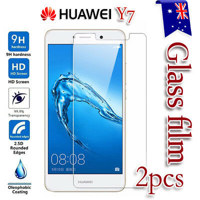 2X Huawei Y7 Tempered Glass / Plastic Screen Protector Film Guard LCD Protector