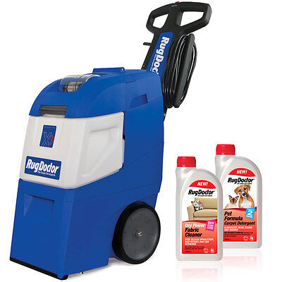 Rug Doctor Mighty Pro X3 Carpet Cleaner + Pet Formula & Oxy Power Detergents BN