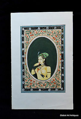 Rare Hand Painted Fine Decorative Collectible Indian Miniature Painting. G77-19