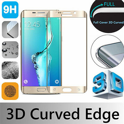 Gold 3D Full Coverage Film Tempered Glass Screen Protector For Samsung Galaxy