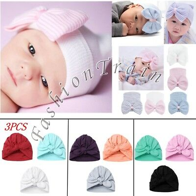 Cute Toddler Girls Baby Kids Soft Hollow Crochet Knitted Big Bow Beanie Cap Hat