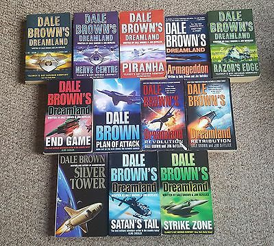 Collection of twelve Dale Brown paperbacks