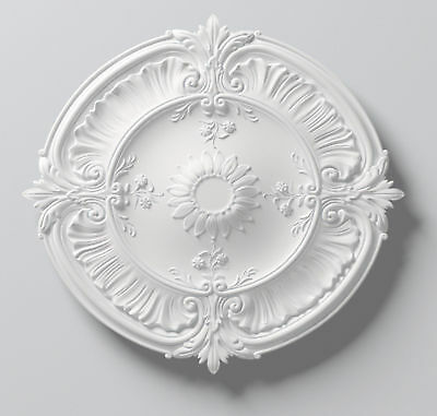 Ceiling Rose Lightweight Paintable Resin Laura 77cm Diameter Easy Fix