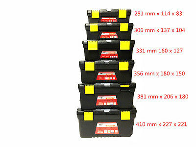 Plastic Tool Boxes  6 Different Size FROM 281mm - 410 mm-Brand New
