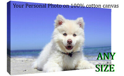 """Your Personal Photo on a Box Canvas Wall Art Print -10""""  x 10 """" - DEEP FRAMED"""