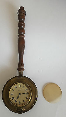 """Vintage """"Smiths Empire"""" Copper Bed Warmer Wind-Up Clock, Remembrance Of Old Time"""