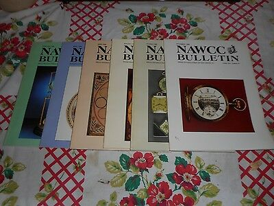 6  NAWCC 1988 Bulletin Magazines for Watch and Clock Collectors