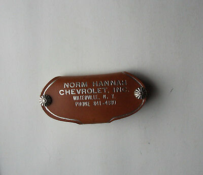 Vintage Advertising  Norm Hannah Chevrolet Inc Waterville New York Keychain