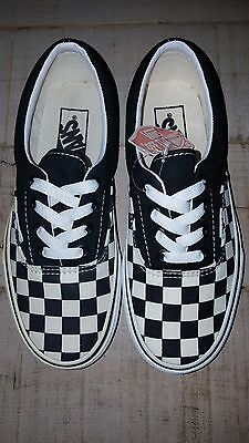 vans era checkerboard black natural