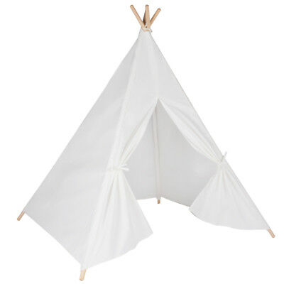 Children's White Teepee. Kids play tent / playhouse / wigwam Tipi Tepee.UK STOCK