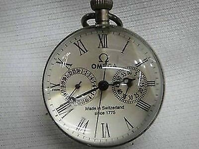 Works CHINESE vintage BRASS GLASS pocket watch BALL clock