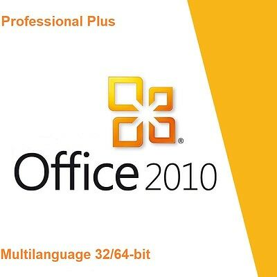 Office 2010 Professional Plus  32/64 Bit Product Key Multilanguage