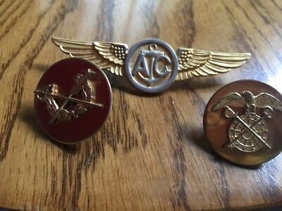 Lot of 3 Vintage Military Lapel Shirt Collar Hat Pins