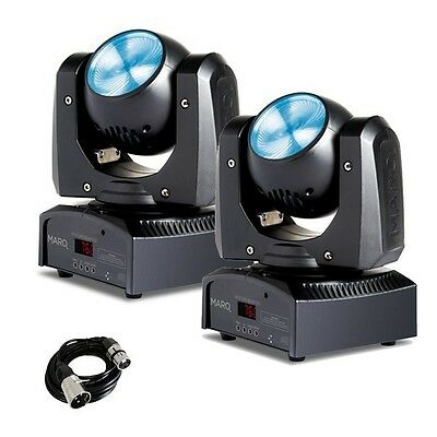 2x Marq Gesture Beam 102 LED DMX DJ Disco Stage Moving Head Light Effect & Cable